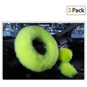 Lime steering wheel cover
